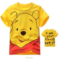 Unisex Summer Standard Wholesale2014newarrivalchildenclothingsummerT-shirtWinnishortsleevedcottonchildrenT-shirtcartoonchildclothing2-7T5pcslot