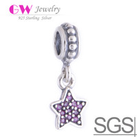 Wholesale PAVÉ STAR CRYSTAL Colors loose pave beads made of Sterling Silver Loose Beads fit DIY charm bracelets European Bracelets No LW180