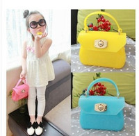 Wholesale Korean Style Hot Sale Childrens Candy Color Shoulder Bags Fashion Girls Pretty Handbag