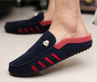 Wholesale Men s Fashion Lace Up Sneakers Casual Loafers Driving Moccasins Slip On Shoes Skull Fashion Breathable SMI02