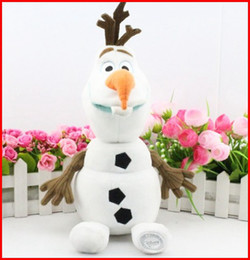 Wholesale Best Gift Cartoon Movie Frozen Olaf Plush Toys For Sale cm contain the cornor height Cotton Stuffed Dolls Size S Melee