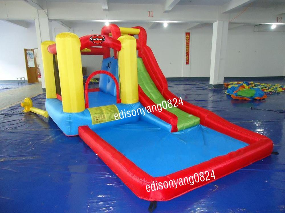 2017 cheap inflatable water slide with pool inflatable for Cheap inflatable pool