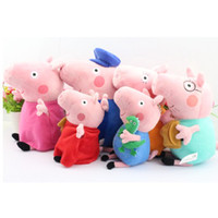 Free Shipping 6pcs set friends Peppa pig Plush Doll Toy Pepp...