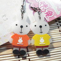 Zhejiang China (Mainland) 000005 5*2.5*3cm romantic plastic cement cellphone accessory lovers MOTOO rabbit Gift& free shipping
