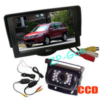 "Car Camera   18 LED IR Wireless CCD Reversing Camera Waterproof + 4.3"" LCD Monitor Car Rear View Kit Free Shipping"