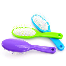 Wholesale Women Girls Massage Hair Care Comb Brush Spa Massage Flat Mixed