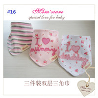 Wholesale Cotton Baby Bibs Toddler Reversible Bandit Bandana Dribble Baby Triangular Bibs Infant Feeding Bib Newborn Baby Y sets