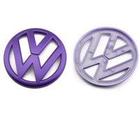 al por mayor volkswagen r36-Nuevo logotipo trasero trasero estándar para Volkswagen Golf 6 GTI nuevo POLO MAGOTAN CC R36 modificado remolque electrochapado mate ABS de color naranja 11CM