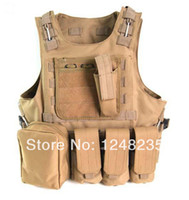 Nylon airsoft vest - Hot Hunting New Airsoft MOLLE Nylon Combat Paintball Tactical Vest Outdoor Products