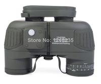 Hunting Binoculars Rangefinder - Hunting Military Airsoft Telescope x50 Navy Binoculars With Rangefinder CompassWaterproof fogproof