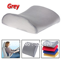 Seat Covers & Supports High-Resilient and Memory Foam Gray New Free Shipping Grey Memory Foam Lumbar Back Support Cushion Pillow for Home Car Auto Seat Chair New