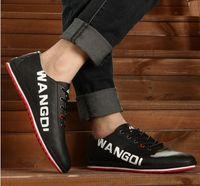 Wholesale New mix colour soft leather men sneaker fashion men british shoes casual men flat ourdoor sport shoes skateboard shoes