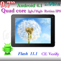 Wholesale 9 inch IPS Capacitive Quad Core A31 Quad Core G Storage