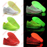 Wholesale Top quality Glow in the Dark women s and men s running shoes New arrival Unisex brand Max sneakers lover shoes