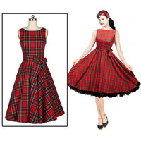 Plus Size 50s Vintage Style Polka Dot Halter Dress / Pin Up pls