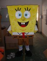Wholesale sponge Bob Mascot Costume from Sponge Bob Mascot Anime Character Antimated Doll Garment Charming Walking Dress