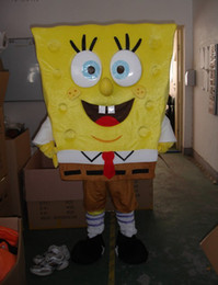 Wholesale sponge Bob Mascot Costume from Sponge Bob Mascot Anime Character Antimated Doll Garment Charming Walking Dress