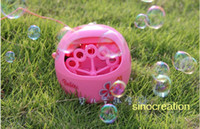 choaking hazard Pink Unisex Free Shipping Automatic Bubble Machine, Children's Plastic Electronic Summer Bubble Toy, Best Gift For Kids Party Toy