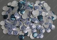 Wholesale 1000pcs Lowest mm aluminum VW FOB key badge sticker emblem remote logo BLUE white black white