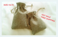 Wholesale JLB x15cm Faux jute Hessian Mini Bags wedding bomboniere Gift bags