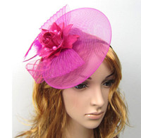 mini top hat hair clip - Fashion Fascinators Mini Top Hat Hair lace feathers Wedding Party Hair Accessories