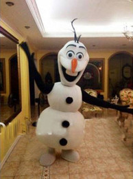 Wholesale 2nd Version Frozen Olaf Snowman Mascot Costume for Adult Fancy Dress Costume EMS