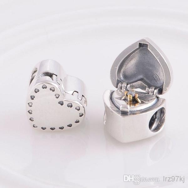 925 Sterling Silver Screw Marry Me Heart Shaped Ring Box