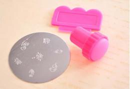 Wholesale DIY Nail Stamper Set Stamping Nail Art Kit Nail Stamp plastic Scraper knife for Image paint Plate Design K07975
