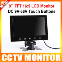 Wholesale 9 Inch Car Rear View Monitor Touch Buttons Dashboard Reverse TV With AV Input Remote Control and TFT LCD Color Screen car stand monitor