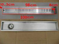 Stainless Steel Drains Yes 100cm x10cm Large-traffic stainless steel bathroom shower long floor waste floor linear side waste drain bc01