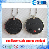 Wholesale Sun flower Style Quantum Scalar Energy Pendant with Stainless steel Circle amp Authenticity Card Fast delivery wu