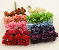 Wholesale Diy craft decoration accessories for wedding party scrapbooking hair garland CM artificial paper mini real touch roses flower