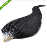 Wholesale Queen hair products mirco ring loop hair extensions g pack brazilian remy human hair b natural color