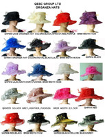 Wholesale X large brim in cm mix styles lace organza hat bridal sinamay hat fascinator for wedding church kentucky derby by EMS
