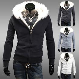 Promotion lignes de capot Vente Livraison gratuite sur les ventes de haute qualité hiver doublure en fourrure collier autour de Hood grande taille chaud sweat-shirts MWW074