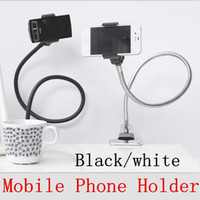 Universal   Hands Free mobile phone holder for iPhone 4 5 HTC GPS Samsung S3 S4 Bed Desk with mounting clip Universal Lazy Flexible Long Arms Holder bra