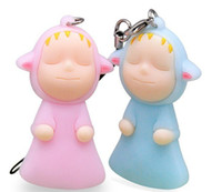 Zhejiang China (Mainland) 000008 12cm romantic plastic cement cellphone accessory lovers double sleepwalk baby Gift& free shipping