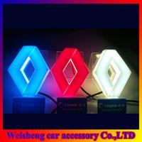 Wholesale D EL led car logo decorative lights For Renault KOLEOS Megane car badge LED lamp Auto emblem led light