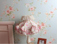 Wholesale County american pastoral flower PVC wallpapers roll wall home decorations living room