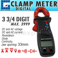 Wholesale E04 Digital Clamp Meter Multimeter DC AC Voltage Current Resistance Diode Continuity Tester