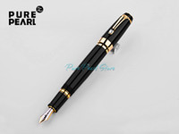 Wholesale PURE PEARL MB SPECIAL BOHEME Series Super AAA Quality Best Design Pure Black and Golden Clip Fountain Pen