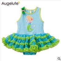 Girl Summer Cotton Blends 2014 NEW kids baby romper dress girl girls children Mermaid dresses jumper sleeveless rompers tulle tutu bodysuit B146224