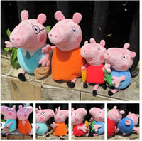 Wholesale Promotion Peppa pig family set plush toys peppa pig toys Baby Safe PP Cotton Stuffed Toys Pepa George Pig With Dinosaur