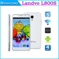 WCDMA agps sim card - Original Landvo L800S MTK6582 Quad Core Smart Mobile Phone android inch GB RAM GB ROM WCDMA AGPS