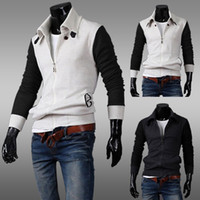 Cotton Cardigan Hoodies,Sweatshirts Hot sale mens casual hoodie turn-down collar cardigan male