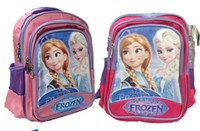 Wholesale hot sell children school bags frozen cartoon backpack Anna Elsa olef p l