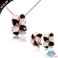 Wholesale 18K Rose Gold Plated Rhinestone Crystal Vintage Butterfly African costume Jewelry Sets Wholesales Fashion Jewelry for women S326