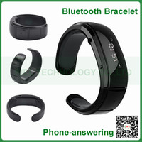 Wholesale Smartwatch Bluetooth Bracelet Watch Wristband Caller ID Vibrating Alert Mic Speaker for iPhone s for Note S4 Mobile Phone