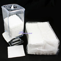 Wholesale Nail Art Wipes Holder for Polish Remover amp pp Facial Cotton Pads Cleansing HB WipesHolder Clear set