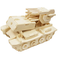 Animals CHOKING HAZARD------Small parts. Not for White,Black,Green,Red,Gray,Blue,Yellow,P Unfinished 3D Multiple rocket launcher Wood Puzzle Toy for Kids Model Building Kits Art & &Craft Toys for Children